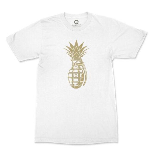Quadrant Pineapple Grenade T-Shirt White