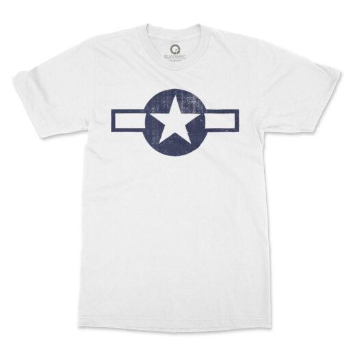 Quadrant WWII Stars and Bars T-Shirt White