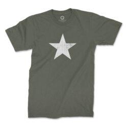 Quadrant WWII US Military Star T-Shirt Ranger Green